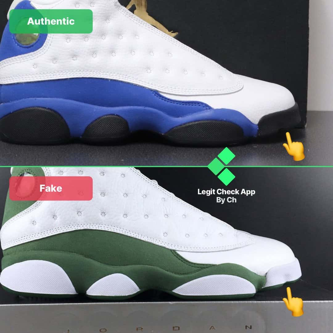 air jordan 13 real vs fake