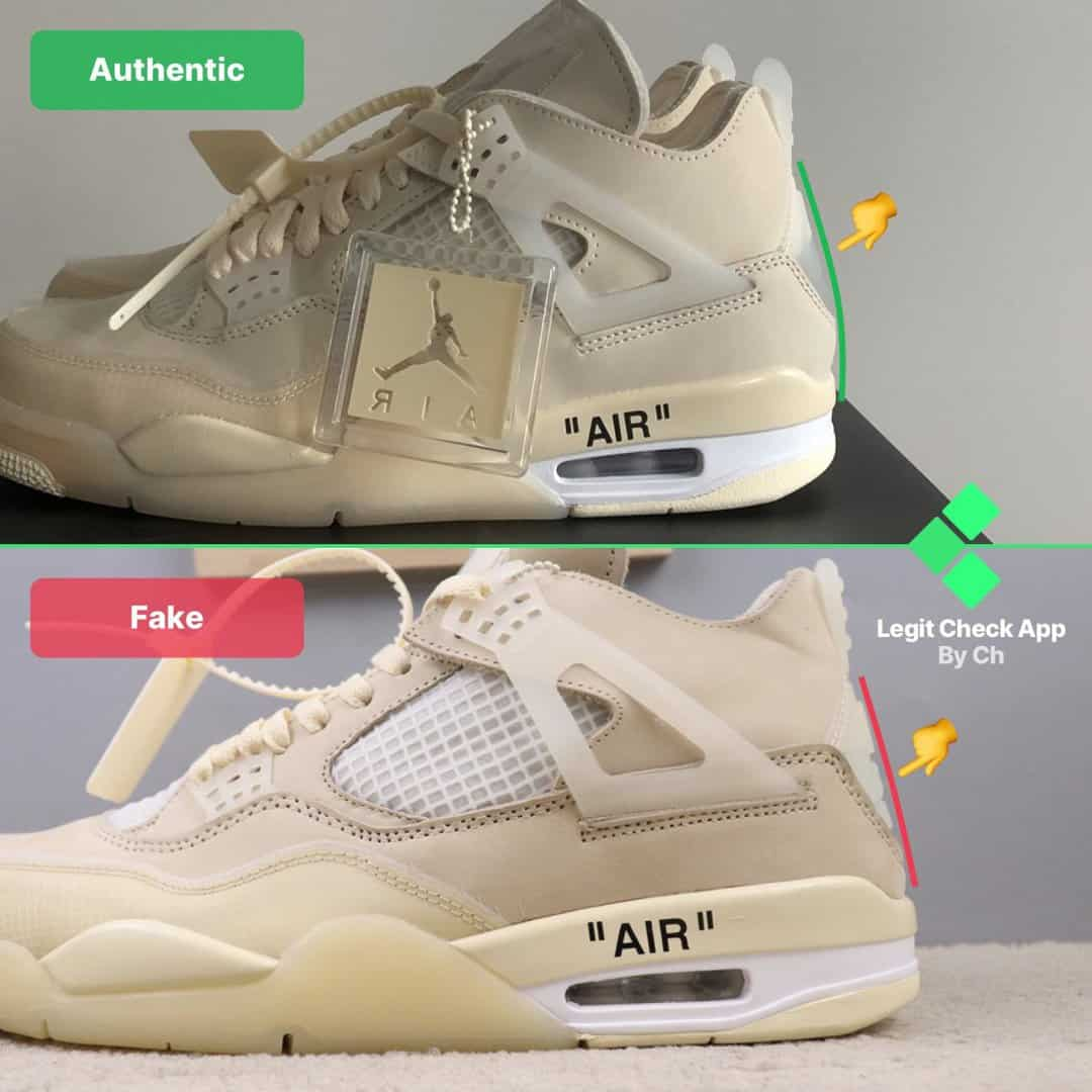 real vs fake ow aj4 sail