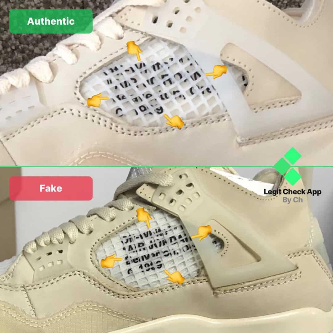 Fake Vs Real Off-White Air Jordan 4