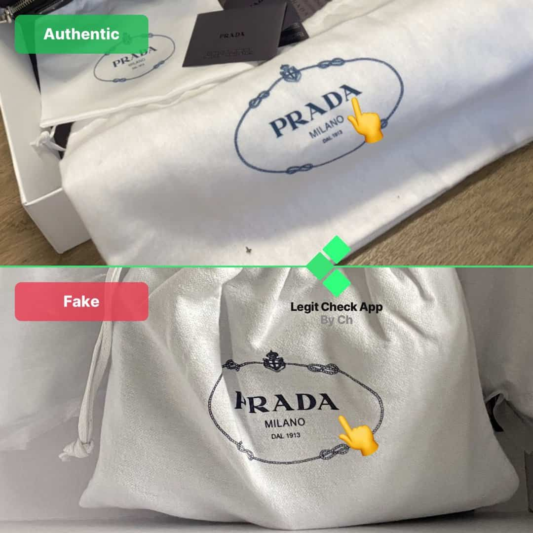 replica vs real prada 2005 re-edition bag