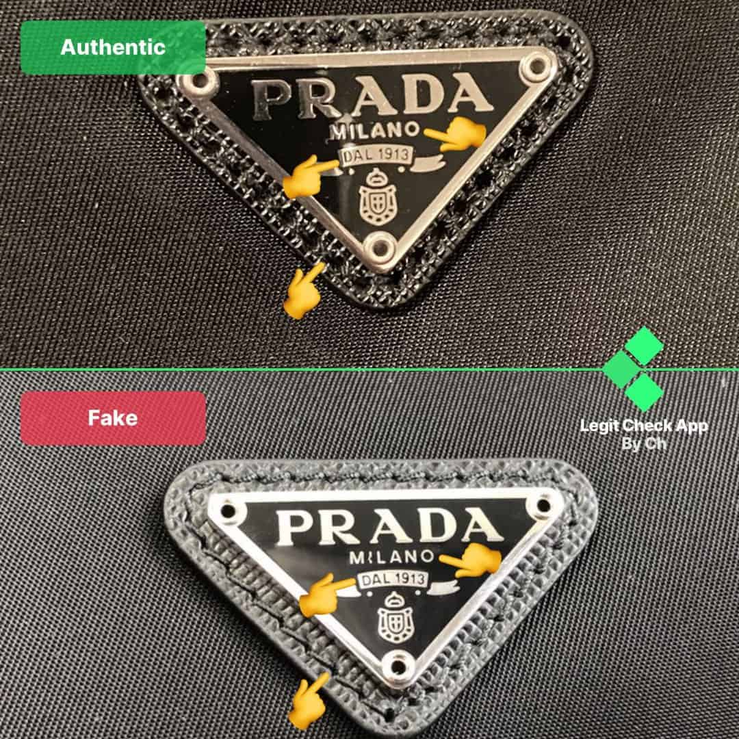 prada re-edition real vs fake nylon bag