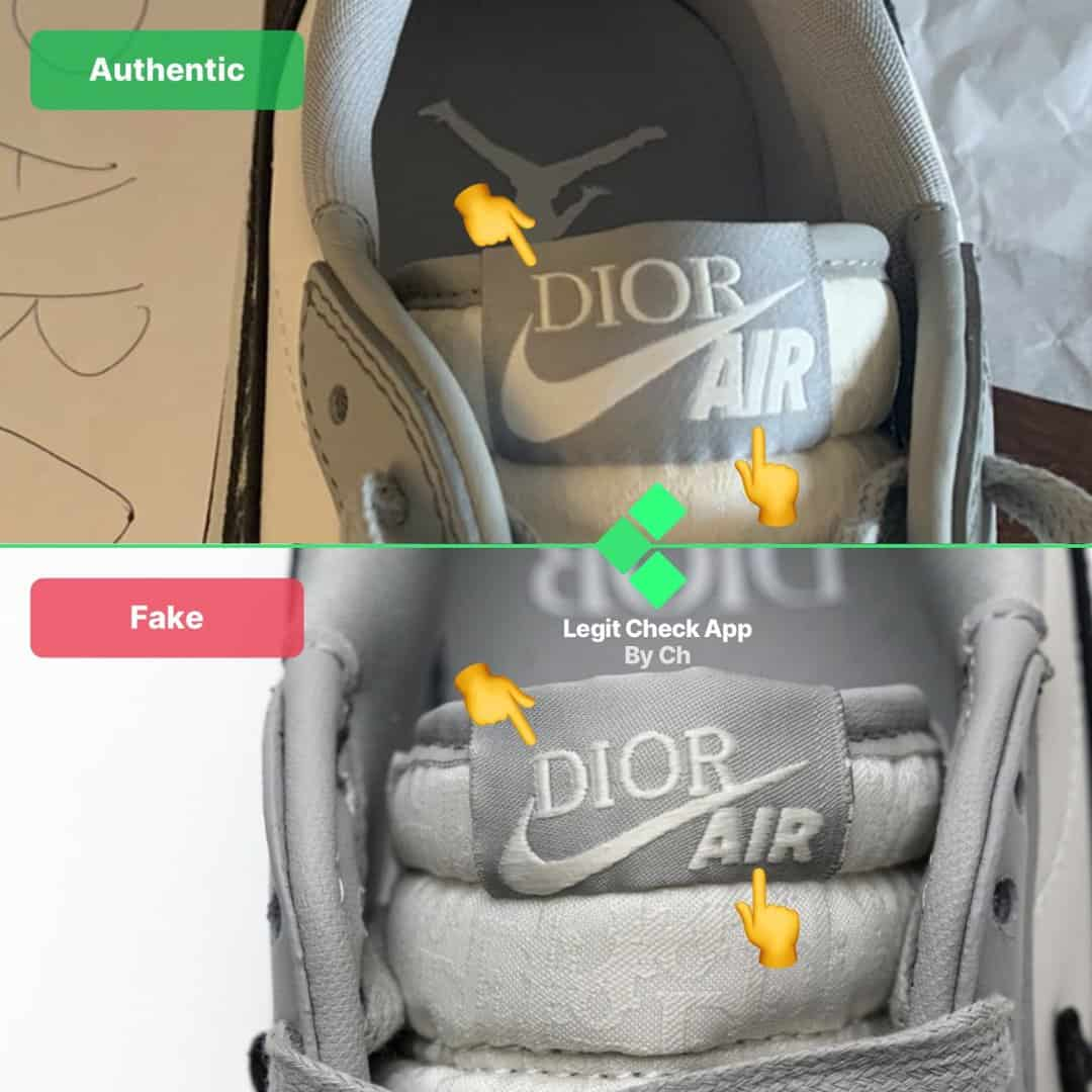 how to spot fake aj1 dior low