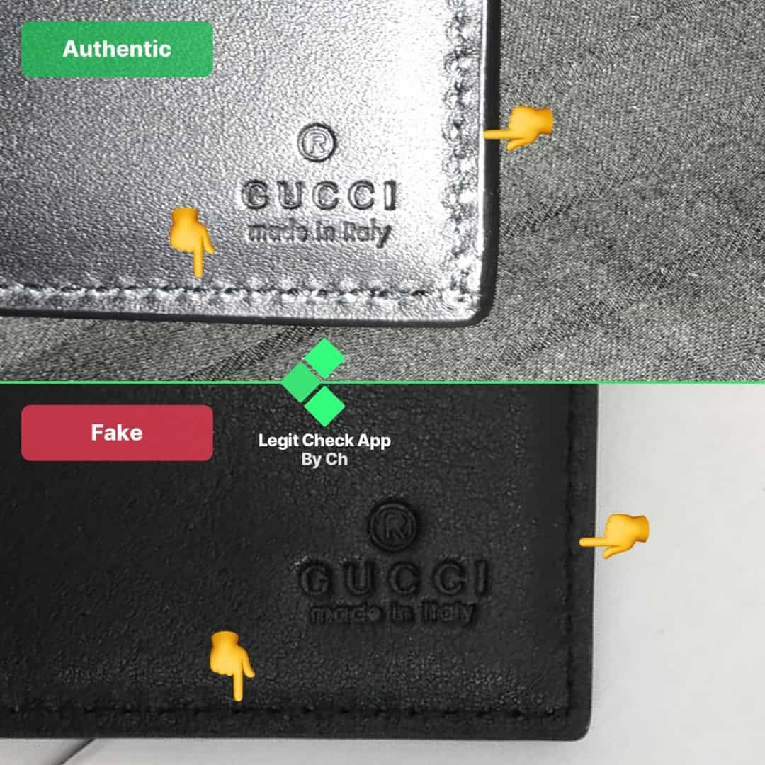how to spot fake gucci wallet