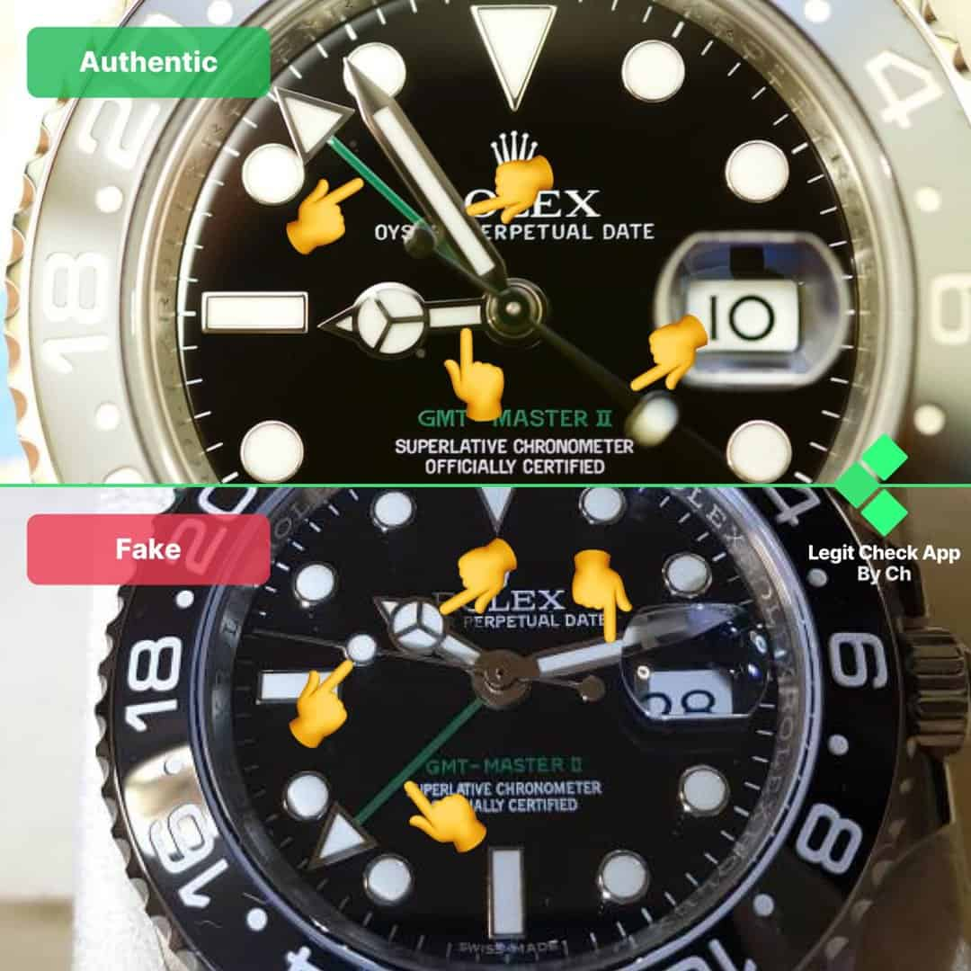 how to spot fake rolex gmt master ii