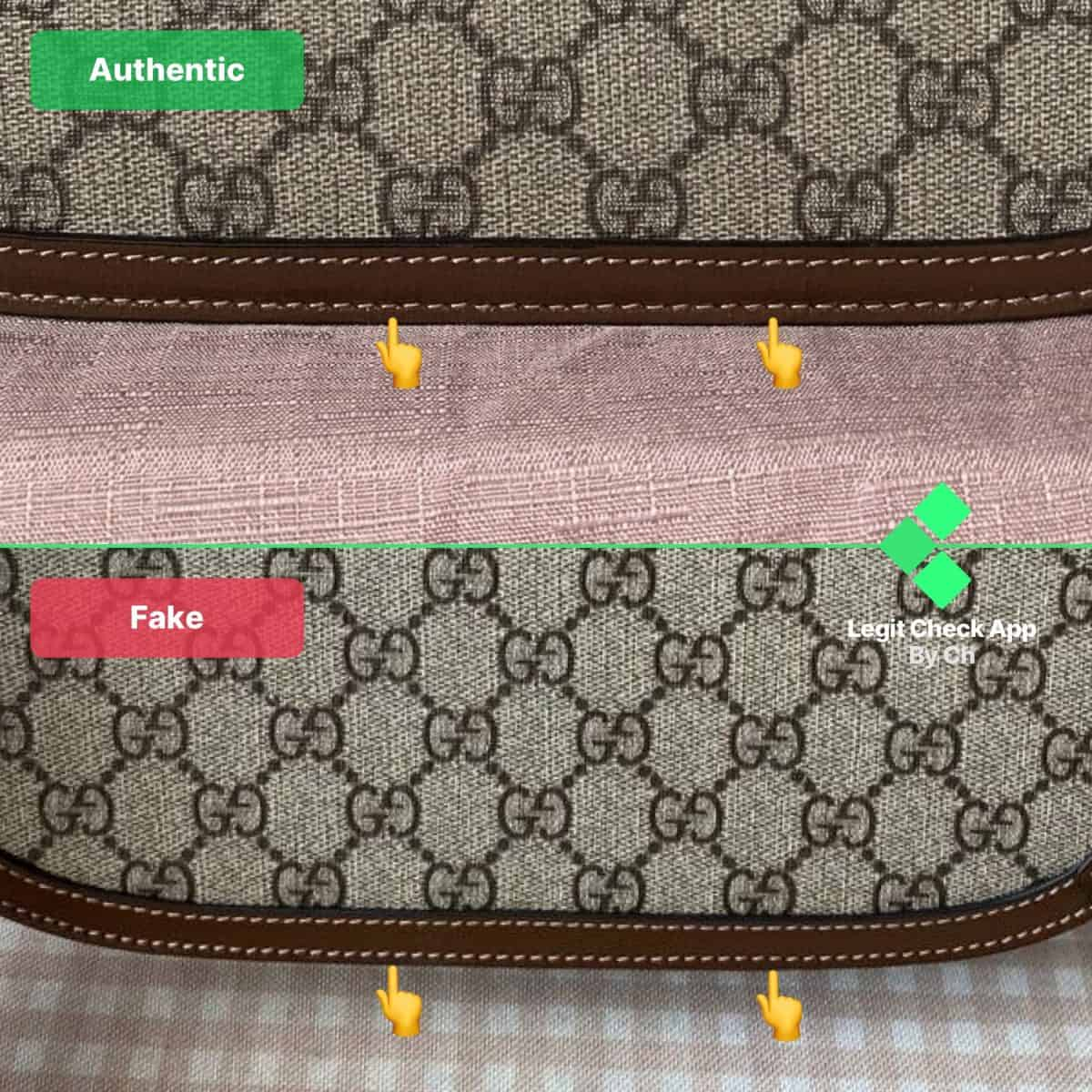 replica vs authentic gucci horsebit bag
