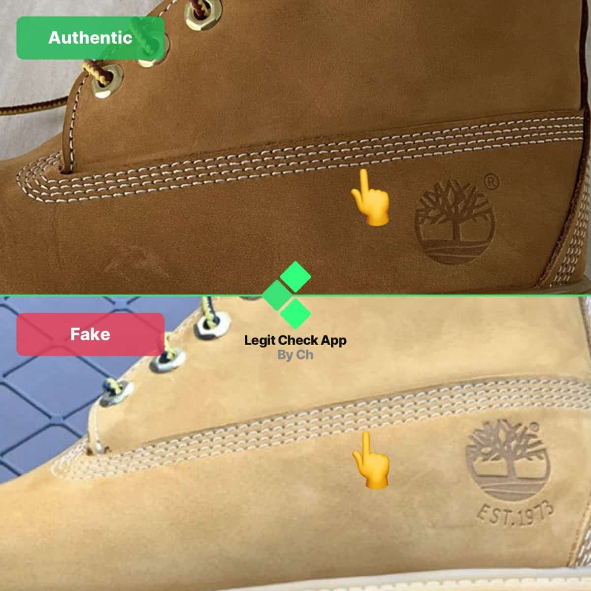 fake vs real timb boots