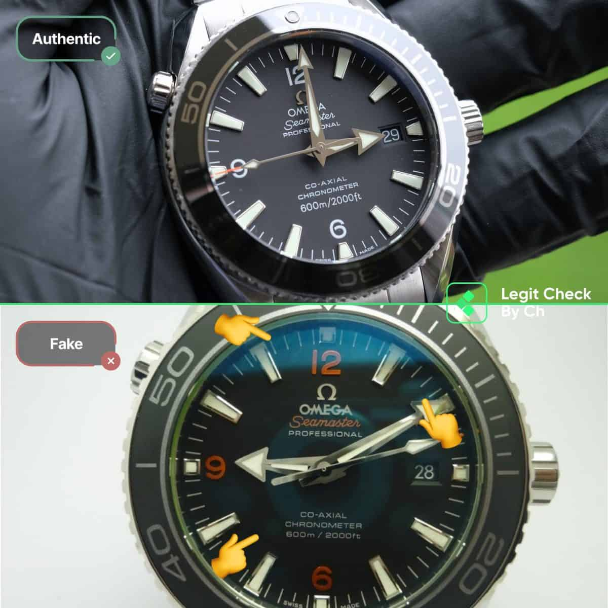 how to authenticate omega planet ocean watches