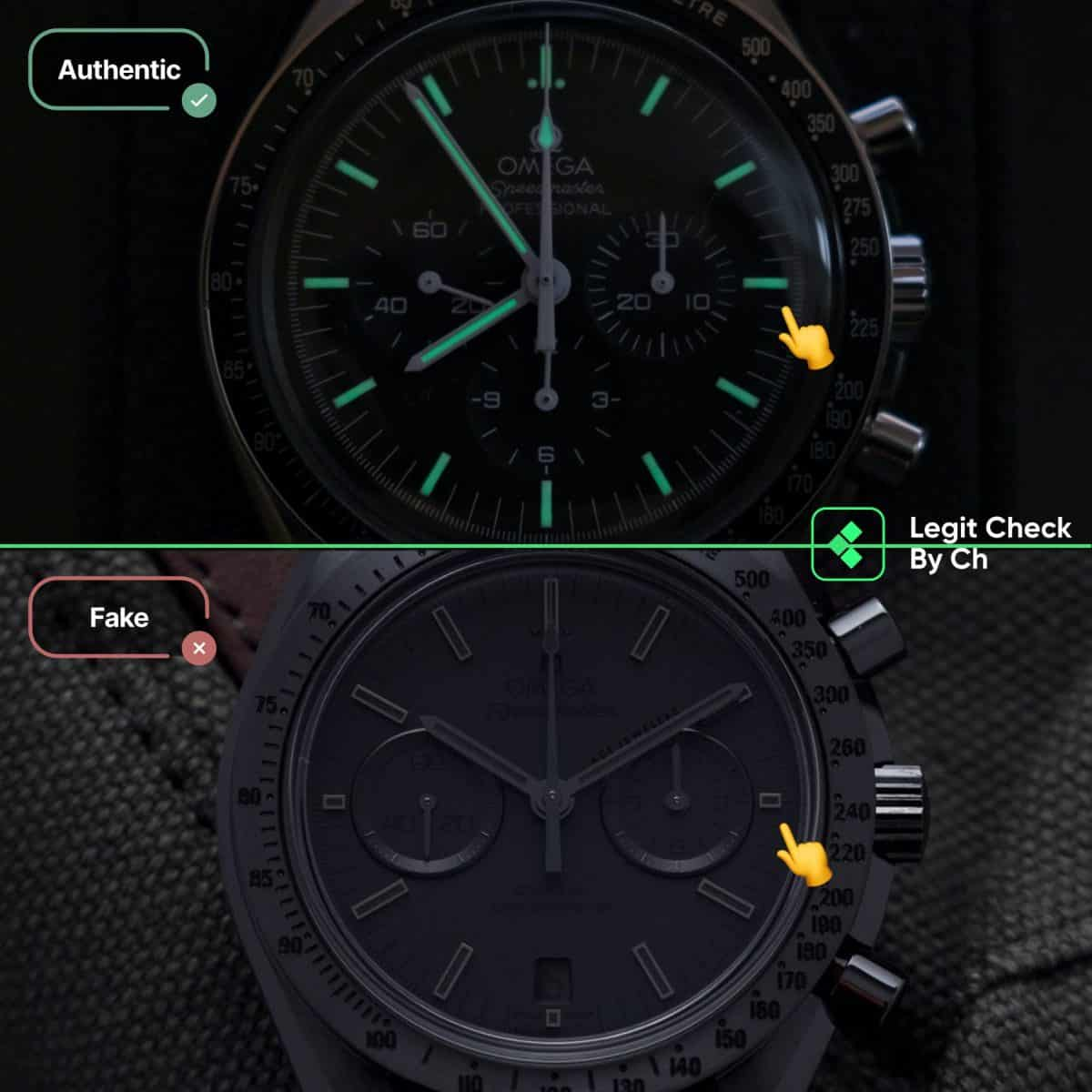 real vs fake omega speedmaster