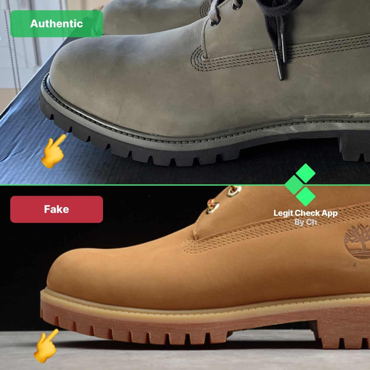 timberland real vs fake boots