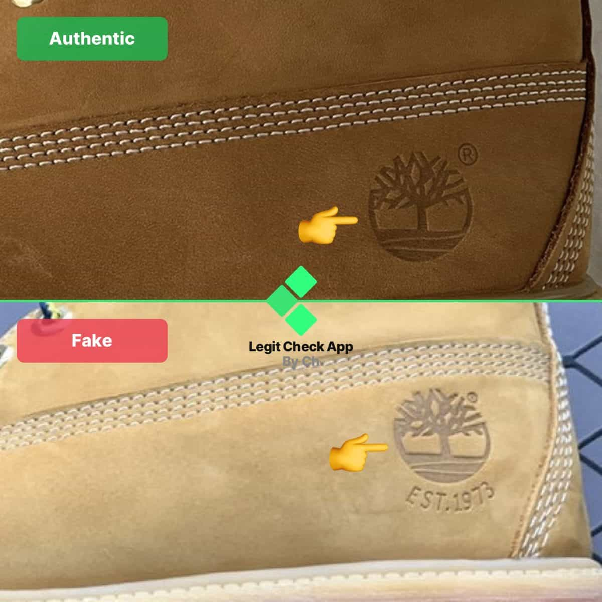 how to see fake timberland boots