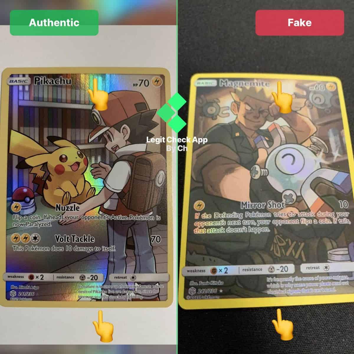 real vs fake pokemon tcg