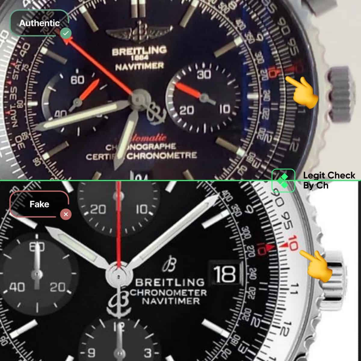 how to see fake breitling navitimer watches