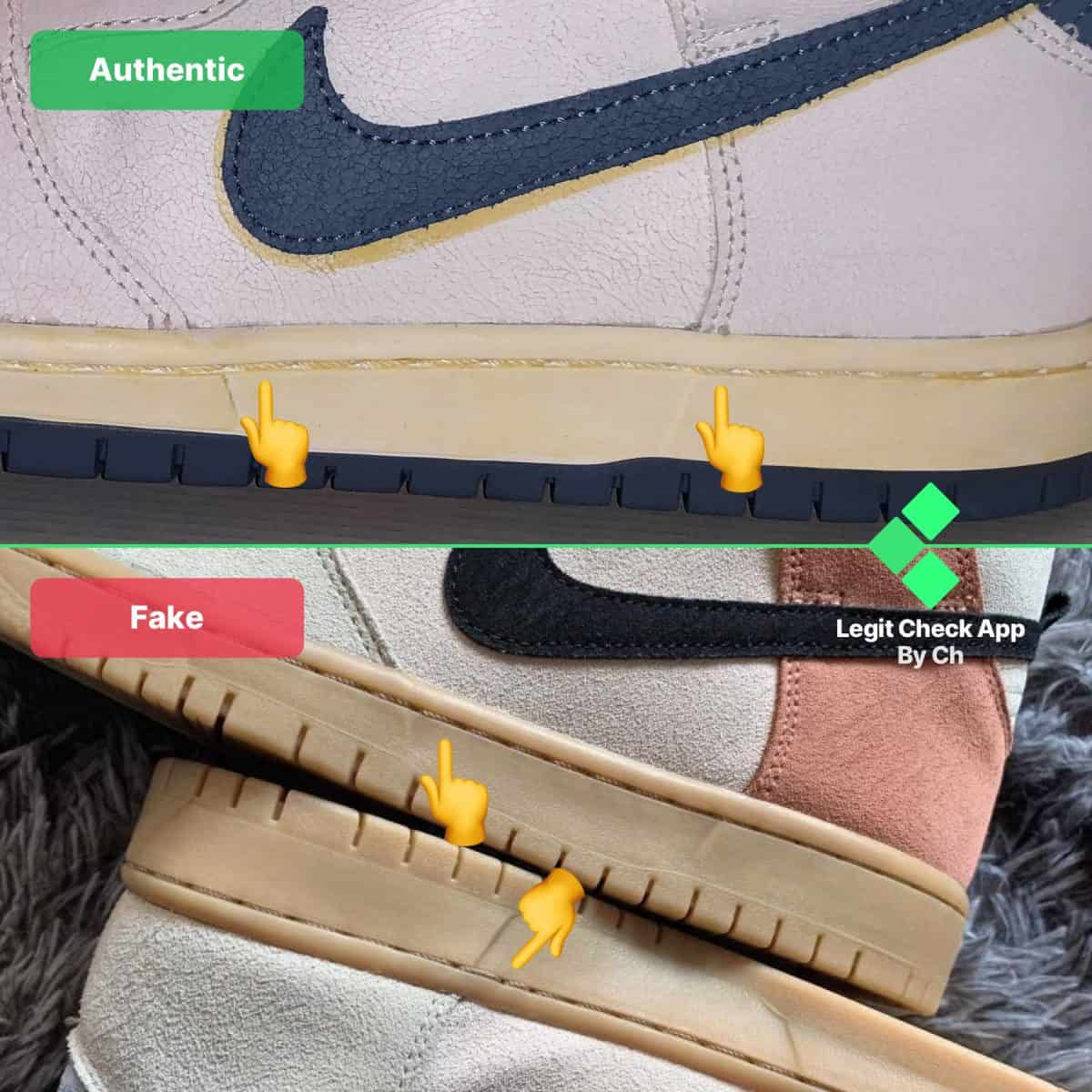 how to spot fake nike dunk highs