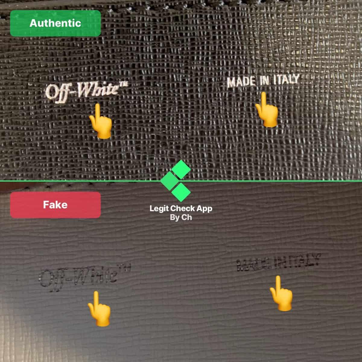 off-white binder clip fake vs real bag guide
