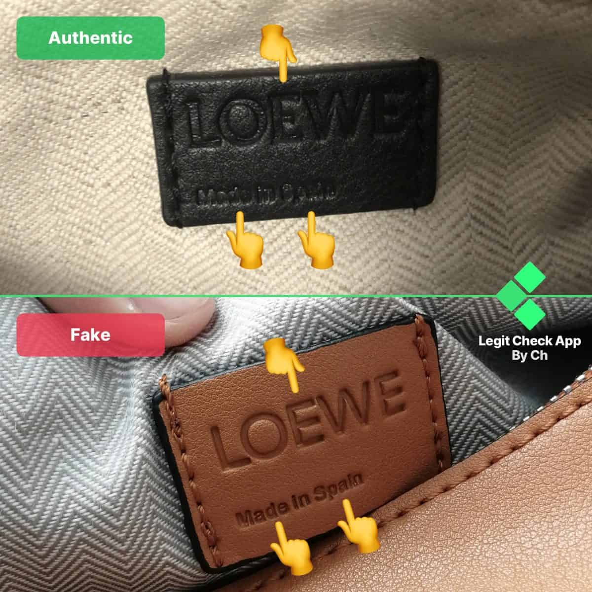 loewe puzzle bag authentic vs replica guide