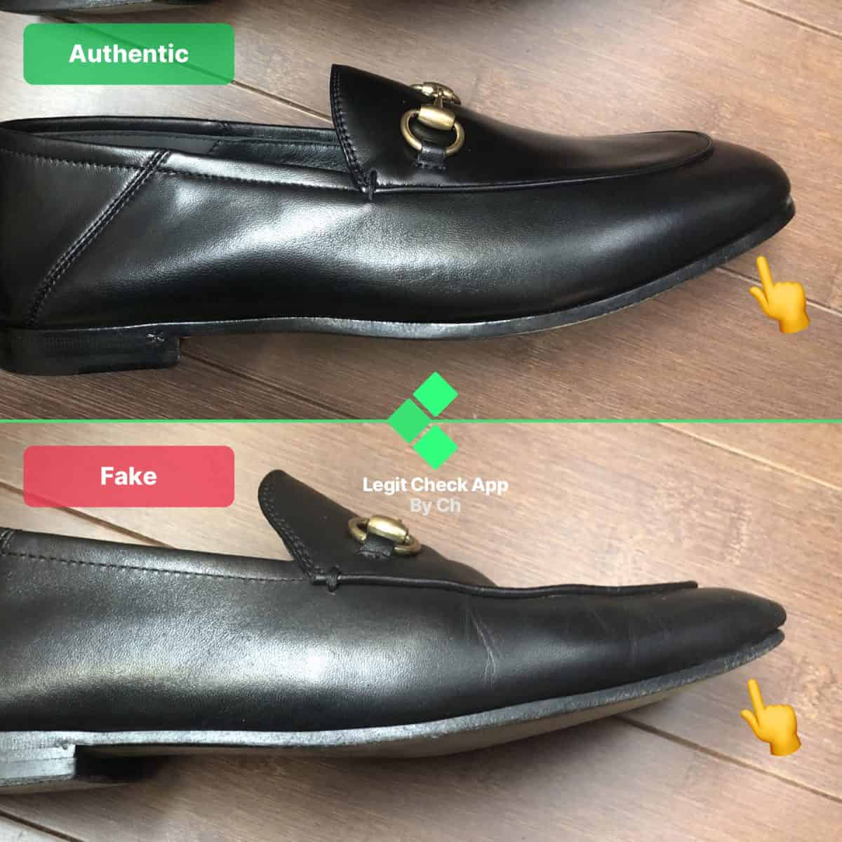 gucic loafers real vs fake
