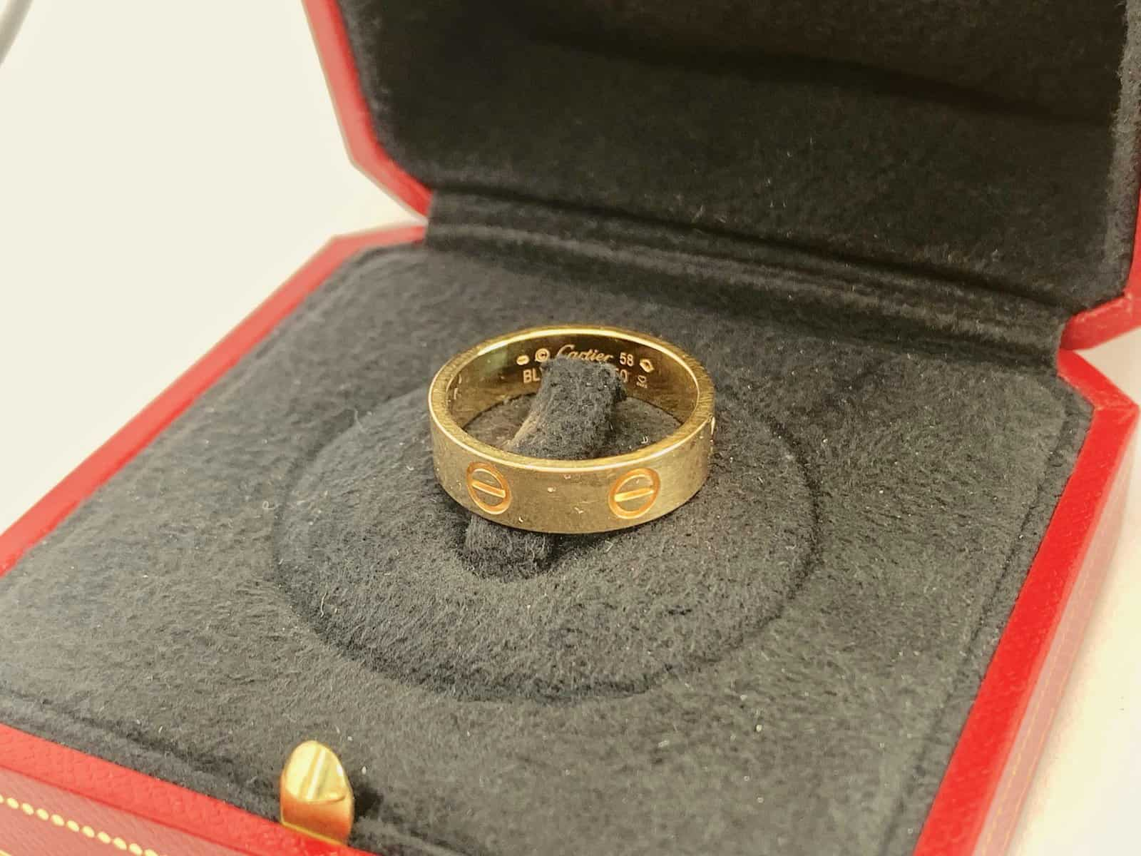 authentic vs fake cartier love ring