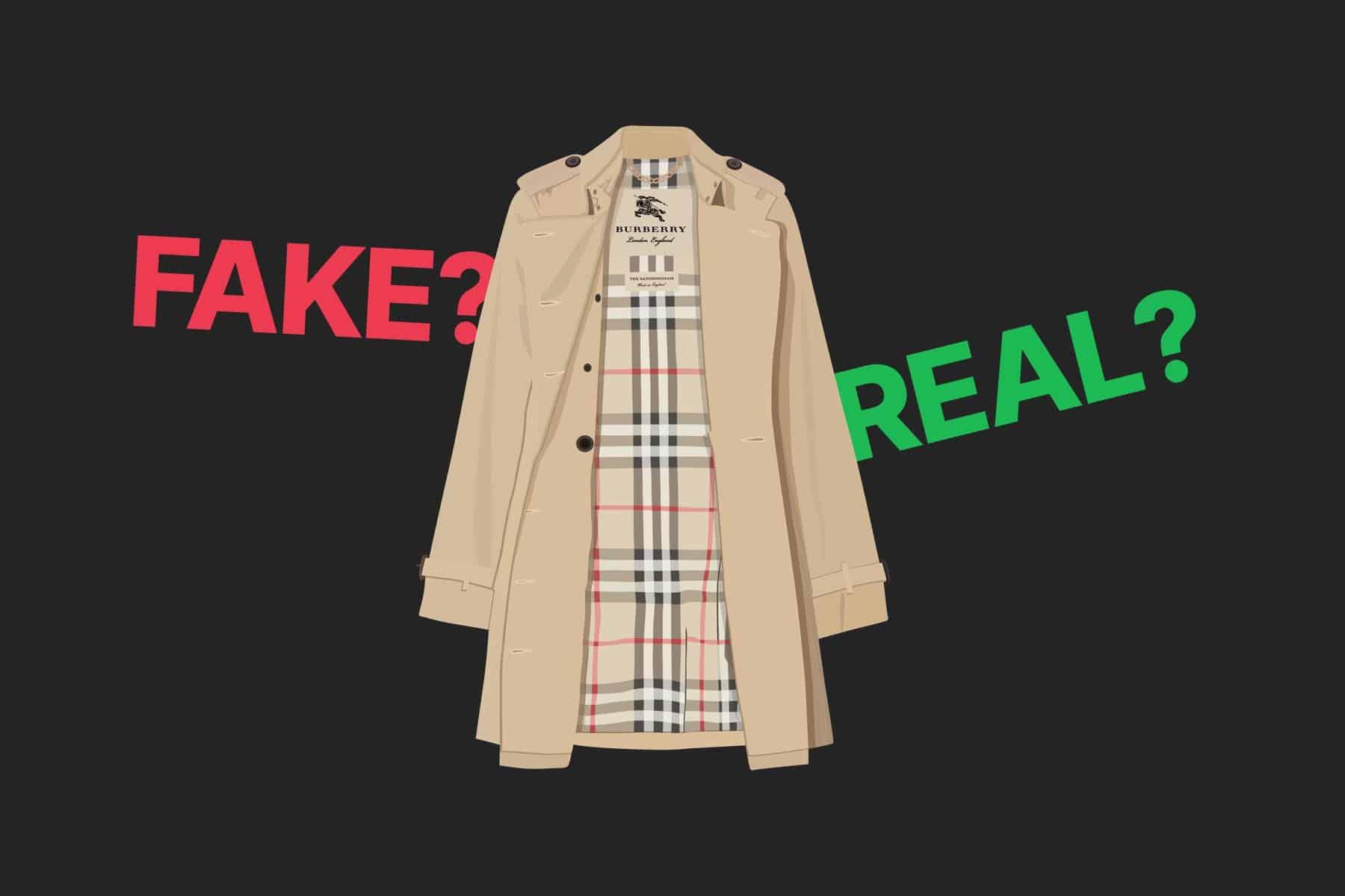 real vs fake burberry coat
