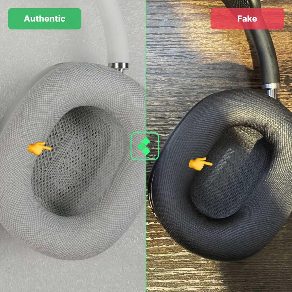 airpods max super copy vs real
