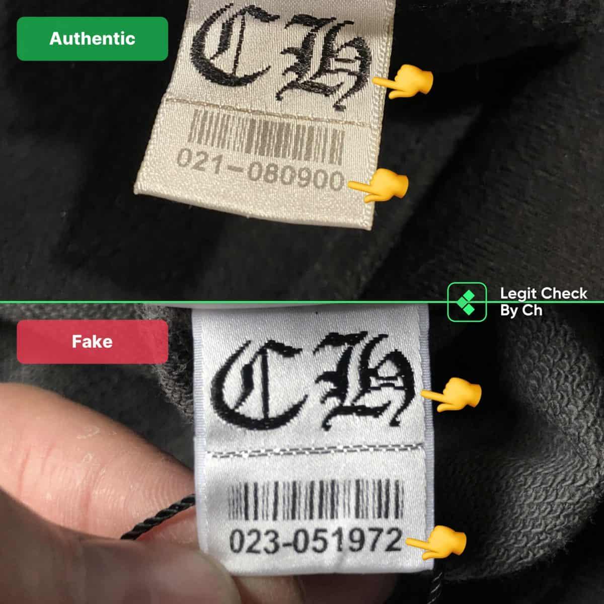 real vs fake chrome hearts hoodie