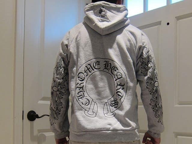 fake vs legit chrome hearts hoodie