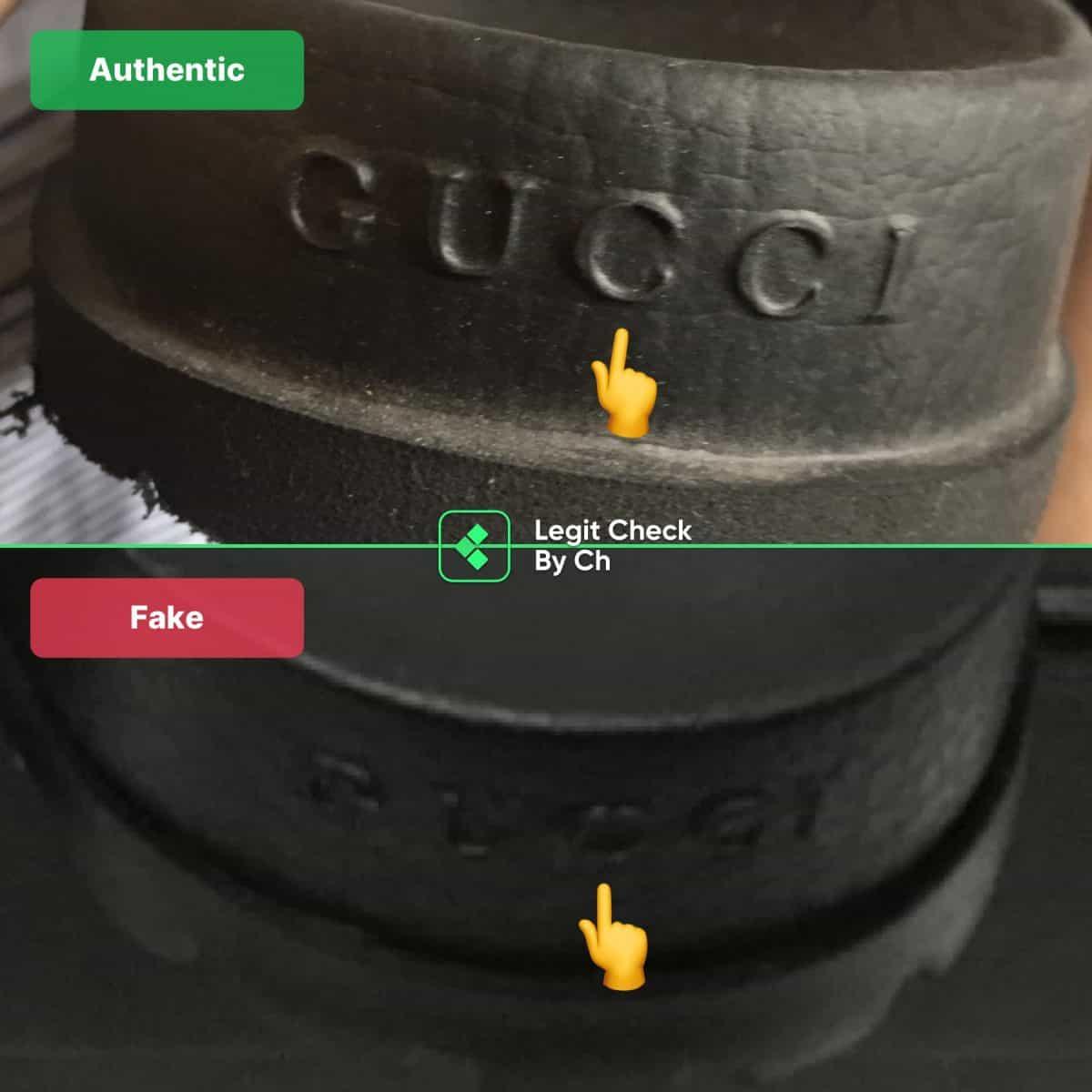 cum să observi diapozitive false Gucci