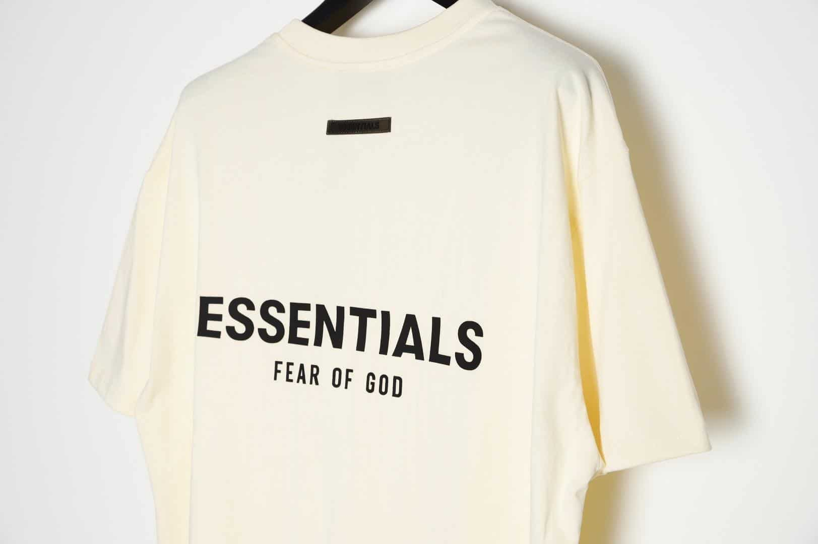 replica vs authentic fear of god essentials tee